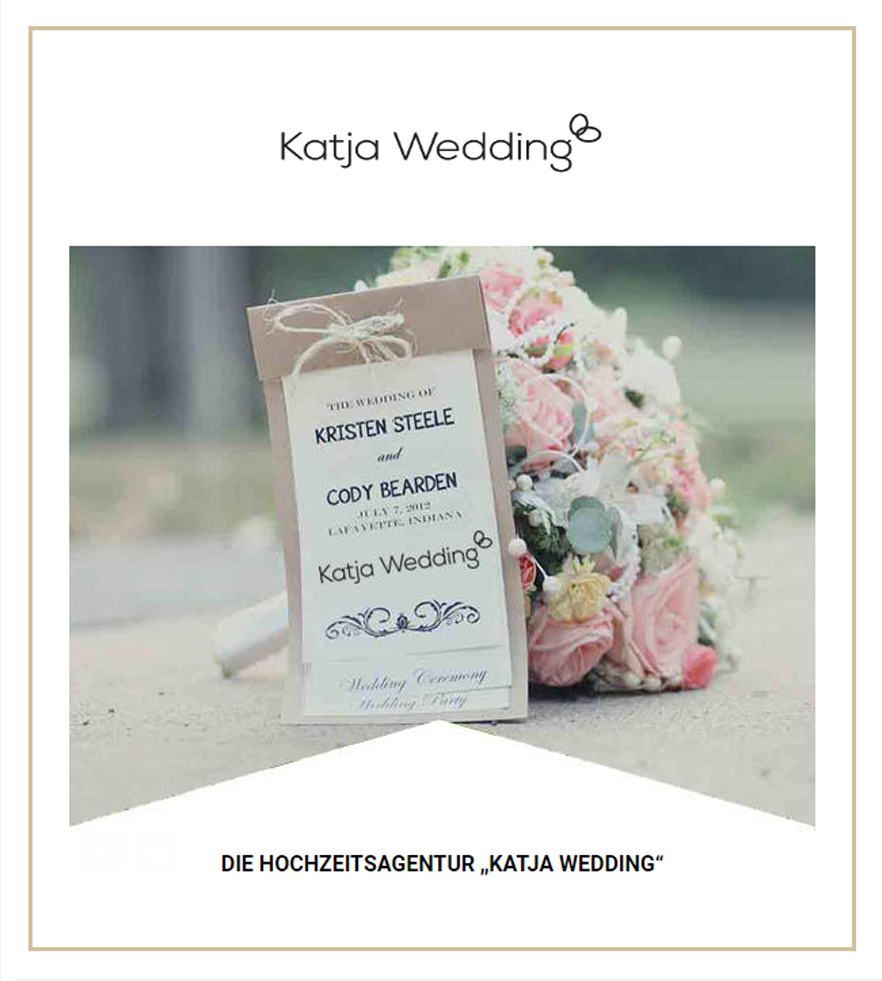 Макет email письма для KatjaWedding Agency